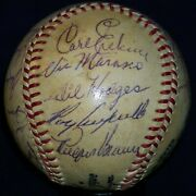 1953 Dodgers Team Signed Baseball Roy Campanella Gil Hodges Pee Wee Reese Jsa