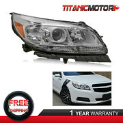 Passenger Side Front Projector Headlight Lamp For 2013 2014 2015 Chevy Malibu