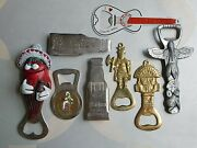 A Bevy Of 8 Lot 70s Vintage Bottle Openers Gambrinus Pivoar Holesovice Boma