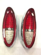1954 Chevy Passenger Car Red Complete Led Tail Light Assemblies Pair New