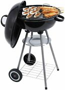 Lefroom 18-inch Charcoal Grill Outdoor Courtyard Picnic Roast Meat Home Bbq Char
