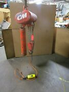 Cm Rt2 3t 3ton 6000lbs 2 Speed Electric Chain Hoist 1.33hp 230v 3ph 9and039ft Drop