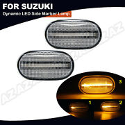 2x Sequential Led Side Marker Lights For Suzuki Jimny Mazda Off-road Chevy Cruze