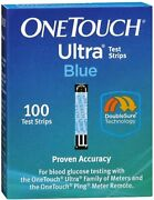 Onetouch Ultra Blue Test Strips For Blood Glucose 100 Each Pack Of 10