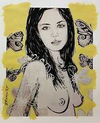 David Bromley Nude Series Mallory Mixed Media On Card 110cm X 91cm
