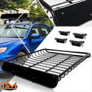 53x 43mild Steel Roof Rack Van/suv Baggage Cargo Carrier Basket W/wind Fairing