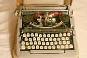 Vintage Portable Royal Signet Typewriter With Case Not Working For Parts Only