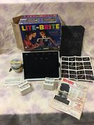 1967 Vintage Hasbro 5455 Lite-brite With Original Box 100's Of Pegs And Sheets