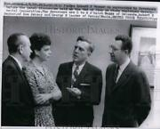 1957 Press Photo Mrs Robert B Meyner Surrounded By Governors Before Discussion