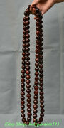 42 Collect Chinese Ox Horn Hand Carved 108 Buddha Beads Pendant Amulet Necklace