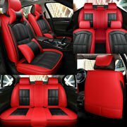 Red Luxury Car Seat Covers 5-sit Accessories Universal Suv Interior All Weather