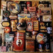 """Vintage """"tins From Simpler Times"""" Authentic Springbok Jigsaw Puzzle 500 Pieces"""