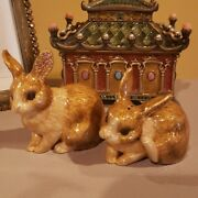 Jay Strongwater Salt And Pepper Shakers Bunny Rabbit Figurine