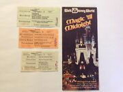 1974 Disney World Map Pamphlet Brochure booklet And Tickets