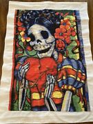 Day Of The Dead Woman Completed Cross Stitch