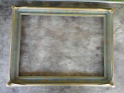 Antique Arts And Crafts Era Batwing Wood And Gesso Picture Frame 17 By 14 No Glass