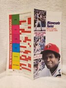 Very Rare 1978 Minnesota Twins Spring Roster Sheet And Schedule, Rod Carew, Mint