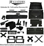 Black Stitch Leather Covers For Defender 90 83-06 Full Interior Upholstery Kit