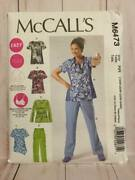 Mccall's Sewing Pattern 6473 Misses' Plus Tops Shirts Pants Cup Size 18w-24w New