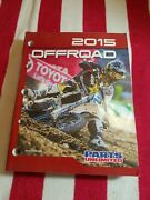 Parts Unlimited 2015 Offroad Motorcycles Catalog Shop Book Jason Anderson Cover