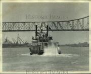 1974 Press Photo The Cotton Blossom Sternwheeler Steamboat Sails Down The River
