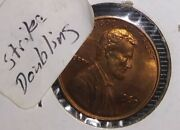 1 Genuine Ms Red - 1969 S Lincoln Memorial Cent - W/ Obverse Errors