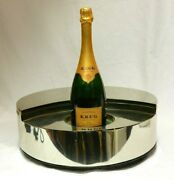 Krug Champagne Willy Rizzo Moon Box Pewter Led Light Bottle Display Fixture