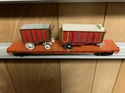 ✅custom Weaver Circus Wagon 50andrsquo Flat Car W/ Lionel Type Couplers Ringling Bros
