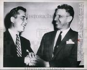 1953 Press Photo Gov.robert Meyner Of New Jersey Greeted Gov. Alfred Driscoll