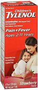 Tylenol Childrenand039s Pain + Fever Oral Suspension Strawberry Flavor 4 Oz 12pack