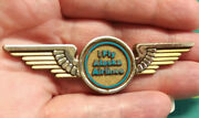 I Fly Alaska Airlines Pin - Pilot Wings Pin Gold Color Plastic - Stoffel Seals