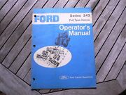 Ford Tractor 243 Pulll Type Harrow Owner Operators Manual Guide Book Setting Up