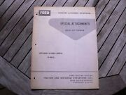 Ford Tractor 309 Planter Special Attachments Owner Operator Manual Guide Book Up