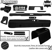 Grey Stitch Leather Covers For Defender 90 83-06 Interior Reupholstery Mid Kit