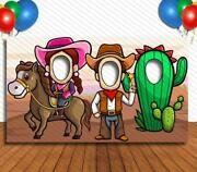 Cowboy Cowgirl, Hole In Face, Party Selfie Photo Prop, Western Decoration