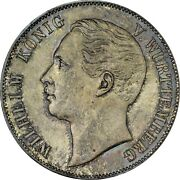 1863 Germany 🇩🇪 Wurttemberg Taler Silver Coin Ngc Ms65 Top Pop Old Holder