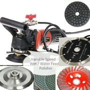 Variable Speed Wet Polisher 20+1 Grinder Pad Lapidary Saw Marble Stone Granite