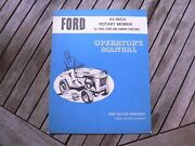 Ford 42 Inch Rotary Mower Lawn Garden Tractor Owner Operator Manual Guide Book