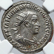 Volusian Authentic Ancient 251ad Tetradrachm Roman Coin Eagle Ngc Ms I85670