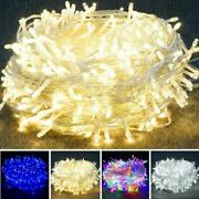 100-1000 Led Plug In Fairy String Party Lights Lamp Xmas Tree Party Waterproof