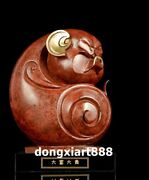 26 Cm Famous China Artist Pure Bronze Abstract Pig Household Art Statue