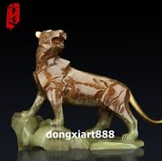 53 Cm Famous China Artist Pure Bronze Abstract Tiger Household Art Statue