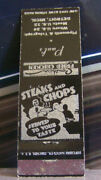 Vintage Matchbook Cover P4 Detroit Michigan Paul's Steaks And Chops Plymouth