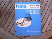 Ford Tractor Series 944 Rotary Cutter Owner Operator Manual Guide Book Set Up