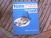 Ford Tractor 946 947 Rotary Cutters Owner Operator Manual Guide Book Set Up