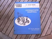 Ford 34andrdquo Rotary Mower For 70 And 75 Lawn Tractor Owner Operator Manual Guide Book