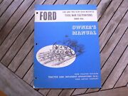 Ford Tractor 406 Tool Bar Cultivators Owner Operator Manual Guide Book Set Up