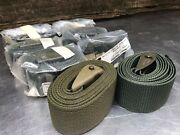 -lot Of 6- Military 6and039 Medical Litter Cargo Strap Webbing W/ Lock Buckle 72x2