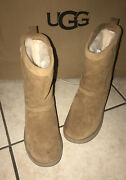 New Ugg Boots Classic Short Waterproof Leather Chestnut Women's Size 7