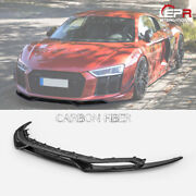Crs Style Carbon Glossy Front Bumper Lip Under Spoiler For 2015+ Audi R8 Type 4s